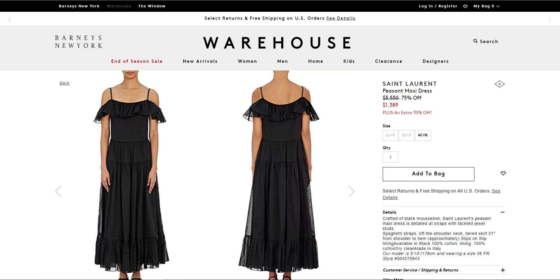 barneys - 5 sitios web donde comprar marcas de lujo a precios de descuento
