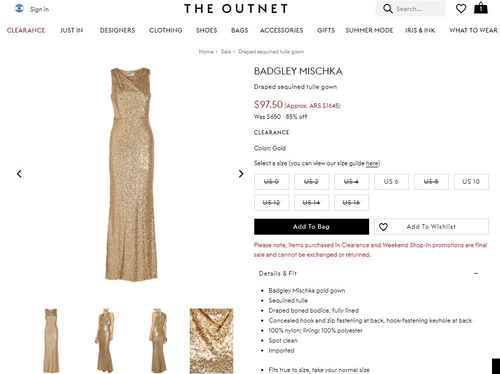 the outnet - 5 sitios web donde comprar marcas de lujo a precios de descuento