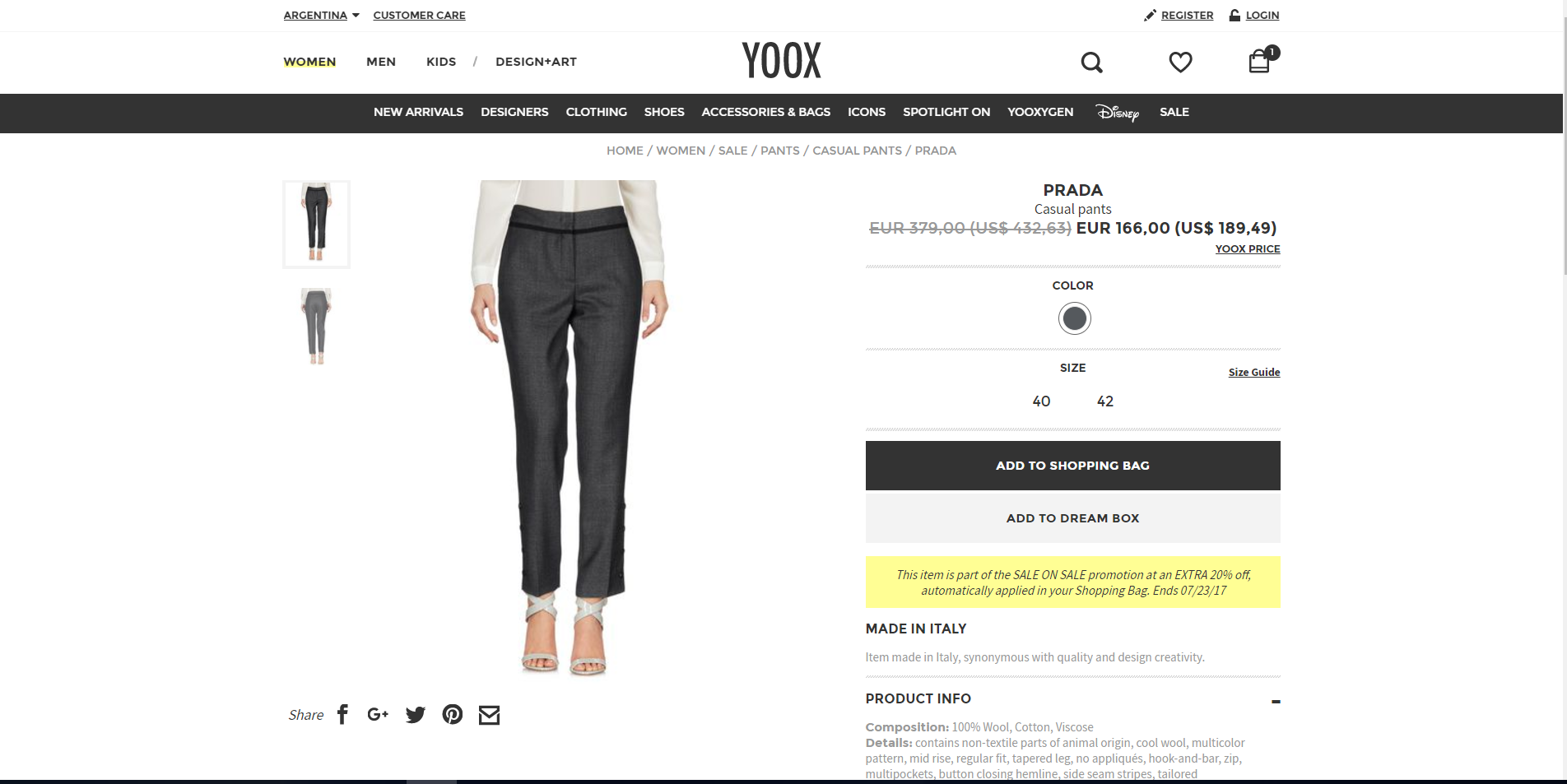 yoox - 5 sitios web donde comprar marcas de lujo a precios de descuento