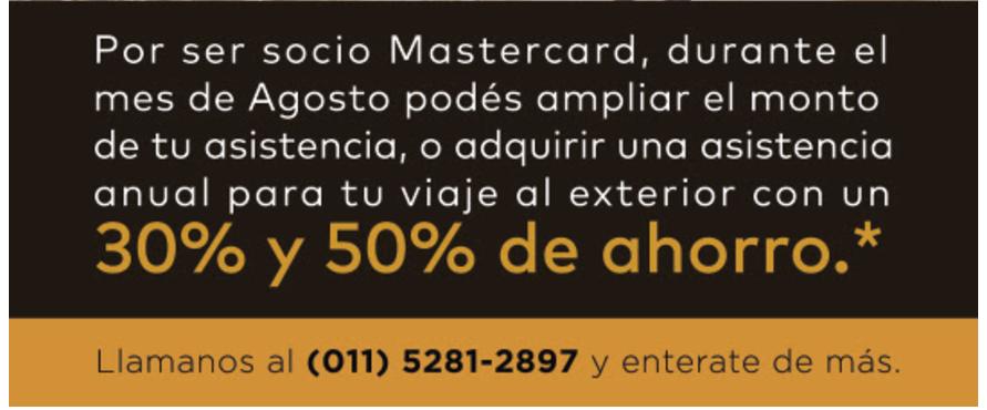 mastercard - Promoción de Mastercard en Asistencia al Viajero